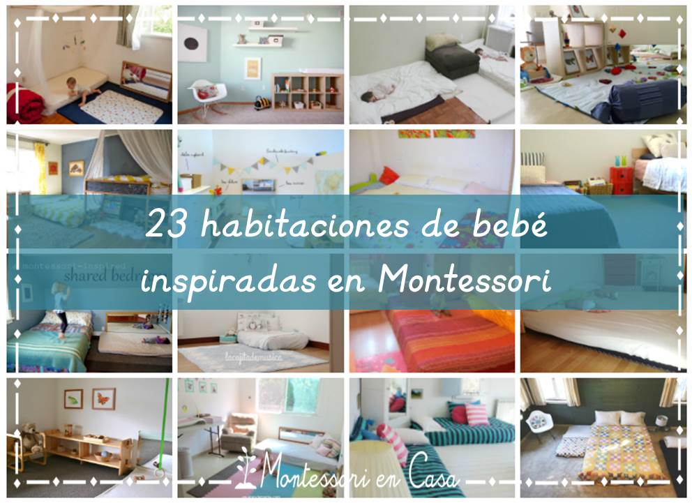 23+ Habitaciones de bebé inspiradas en Montessori (individuales, compartidas y colecho) - 23+ Montessori inspired bedrooms (baby, shared and co-sleep)