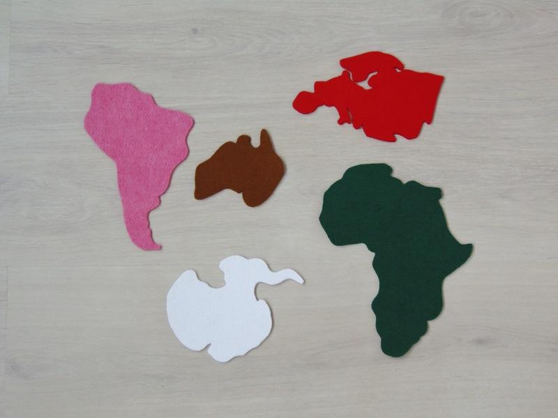 Montessori en Casa: Mapamundi de fieltro