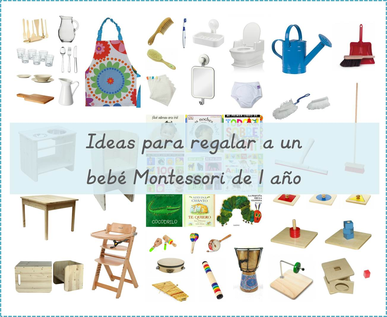 50 ideas para regalar a un beb montessori de 1 a o 50 for Cosas especiales para regalar