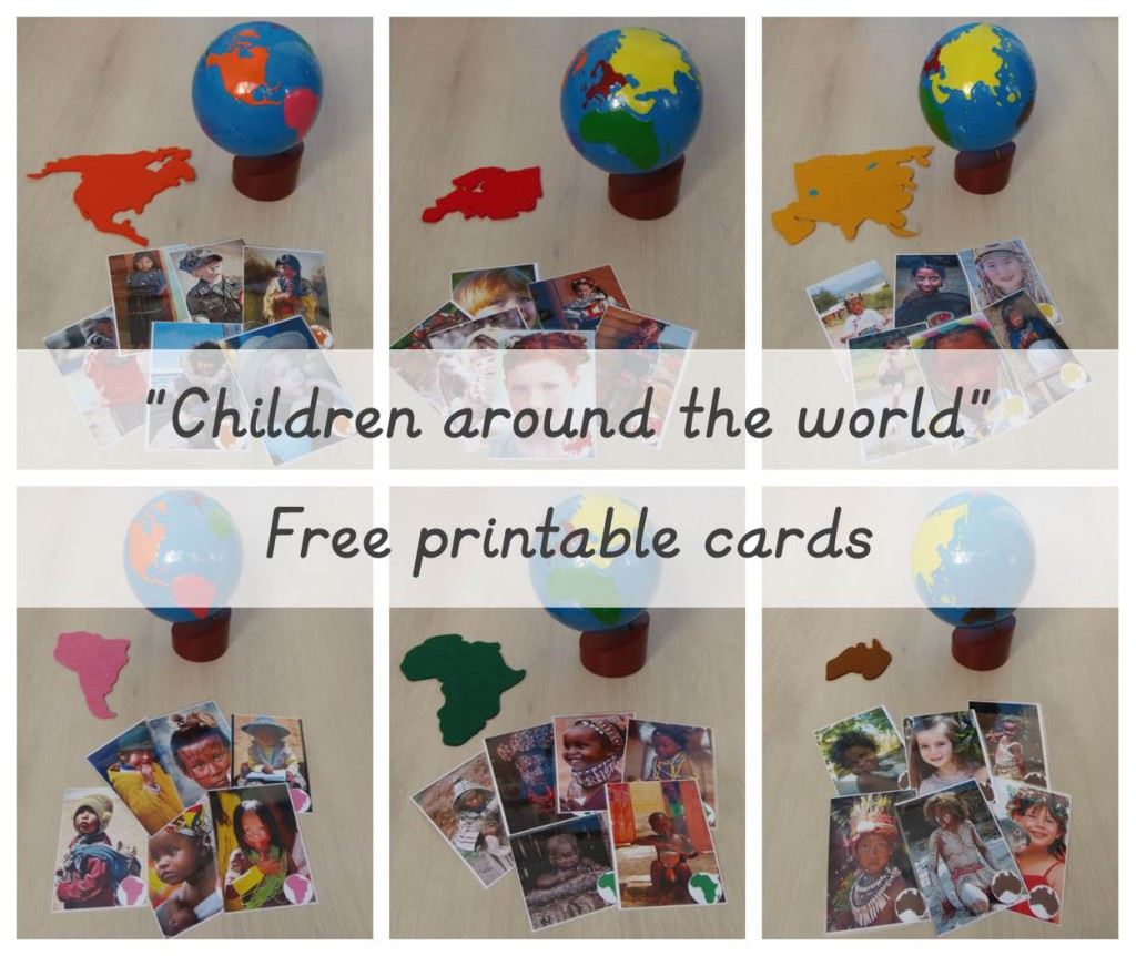 Children around the world free printable cards