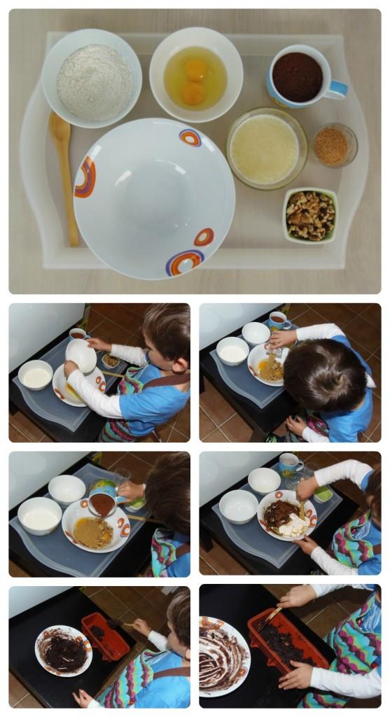Montessori en Casa - Cocinando solito: Brownie