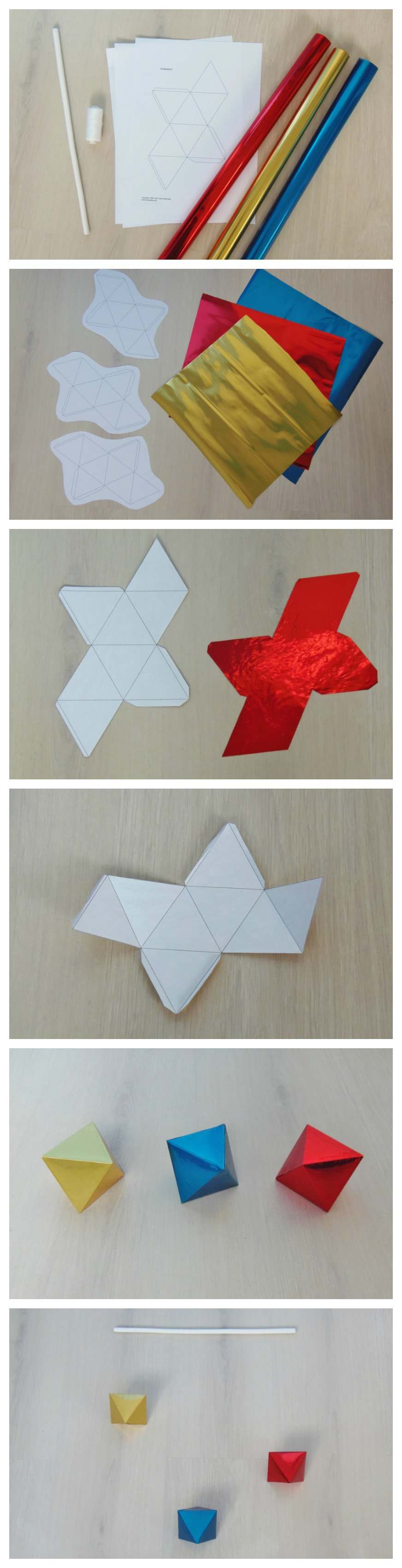 m vil de beb octaedros tutorial diy octahedron baby mobile montessori en casa. Black Bedroom Furniture Sets. Home Design Ideas