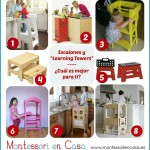 Comparativa escalones y torres de apendizaje – Stool and learning towers comparison