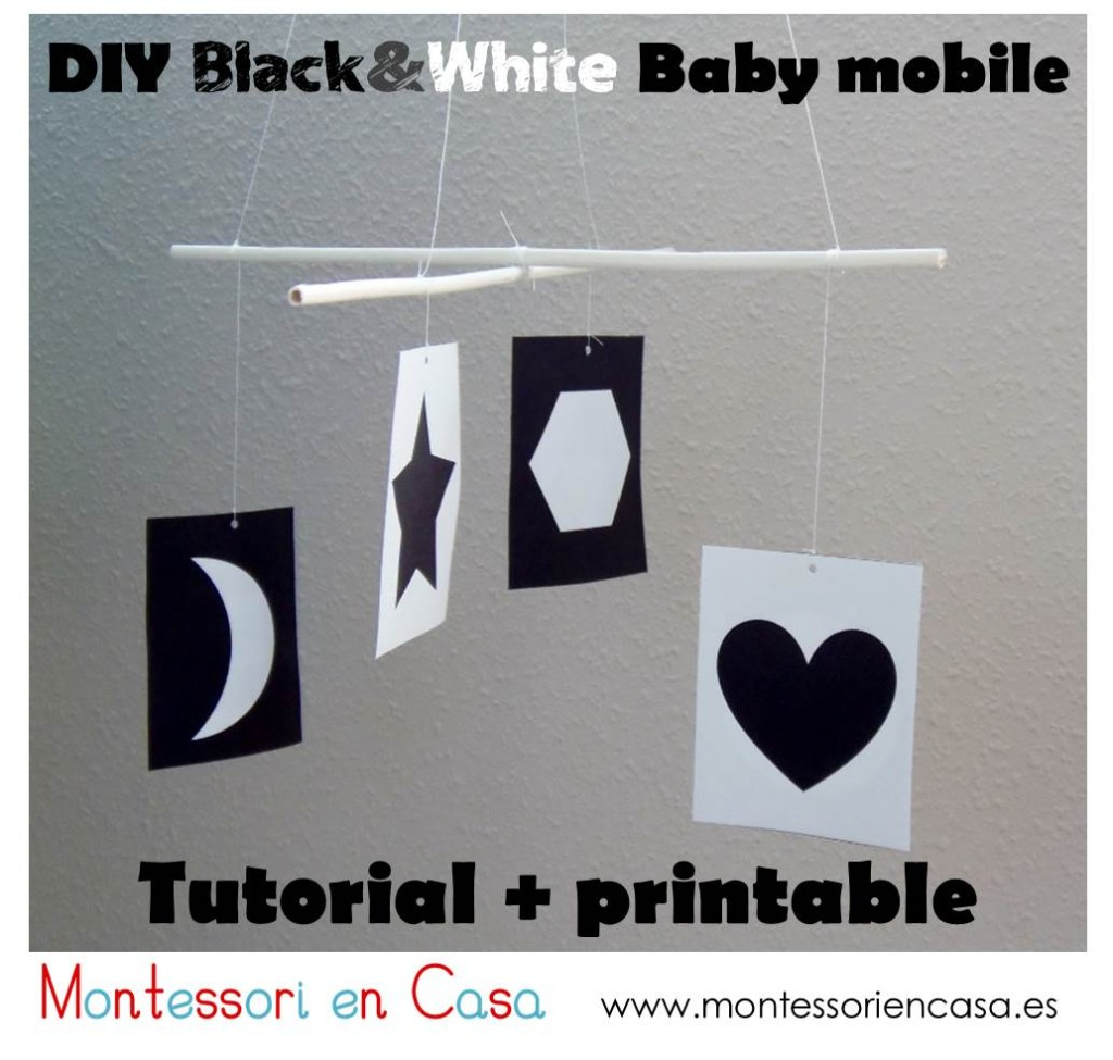 DIY b&w baby mobile