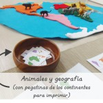 Animales y geografía con Safari Toobs (pegatinas para imprimir) – Animals and geography with Safari Toobs (printable stickers)