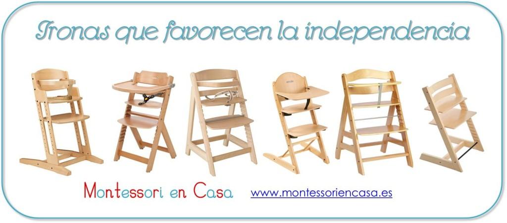 Tronas que favorecen la independencia - Montessori en Casa