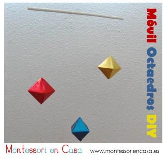 Móvil Octaedros DIY - Montessori en Casa