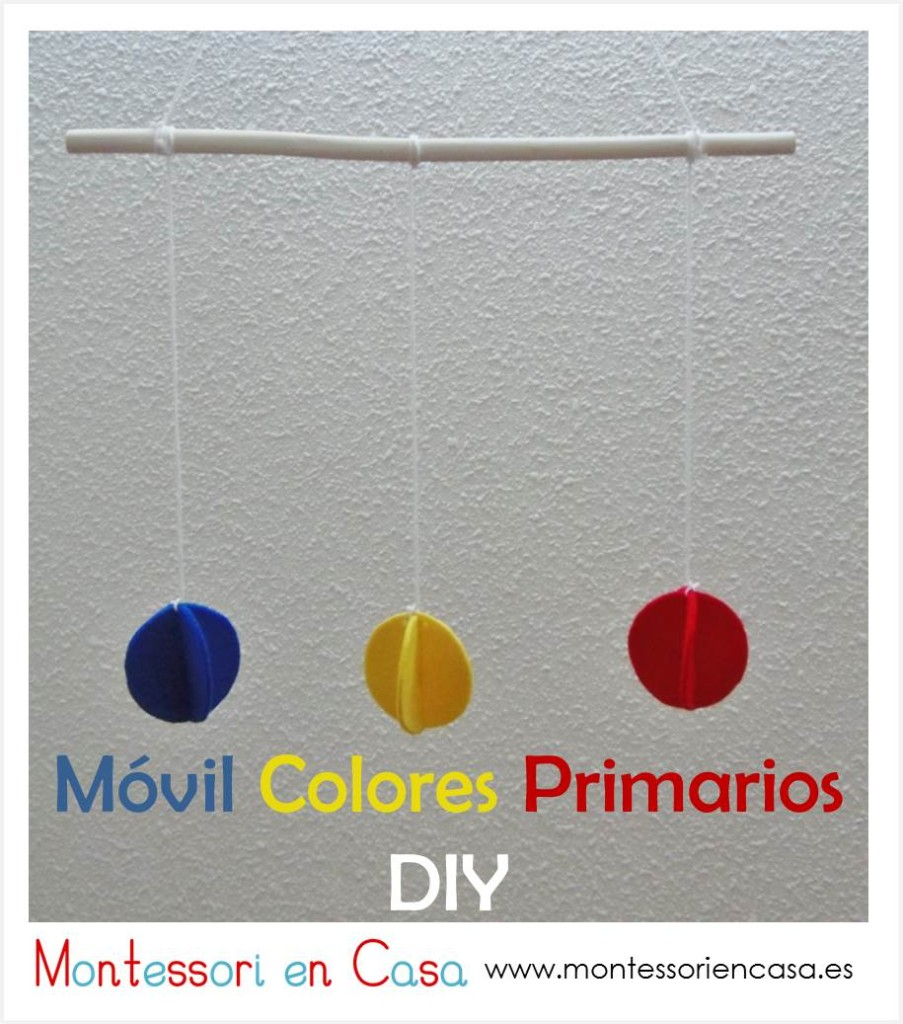m vil de beb colores primarios tutorial diy primary colors baby mobile montessori en casa. Black Bedroom Furniture Sets. Home Design Ideas