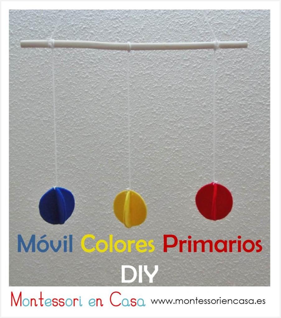 Móvil colores primarios DIY