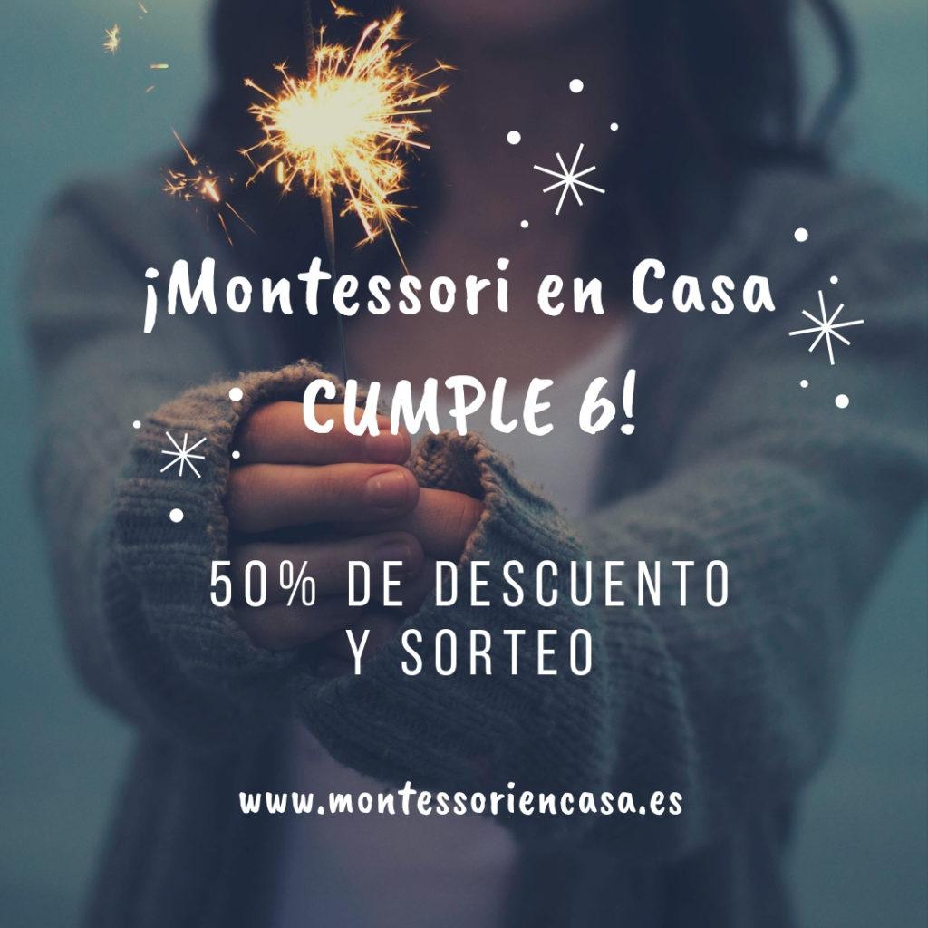 ¡Montessori en Casa cumple 6 años! 50% descuento y sorteo