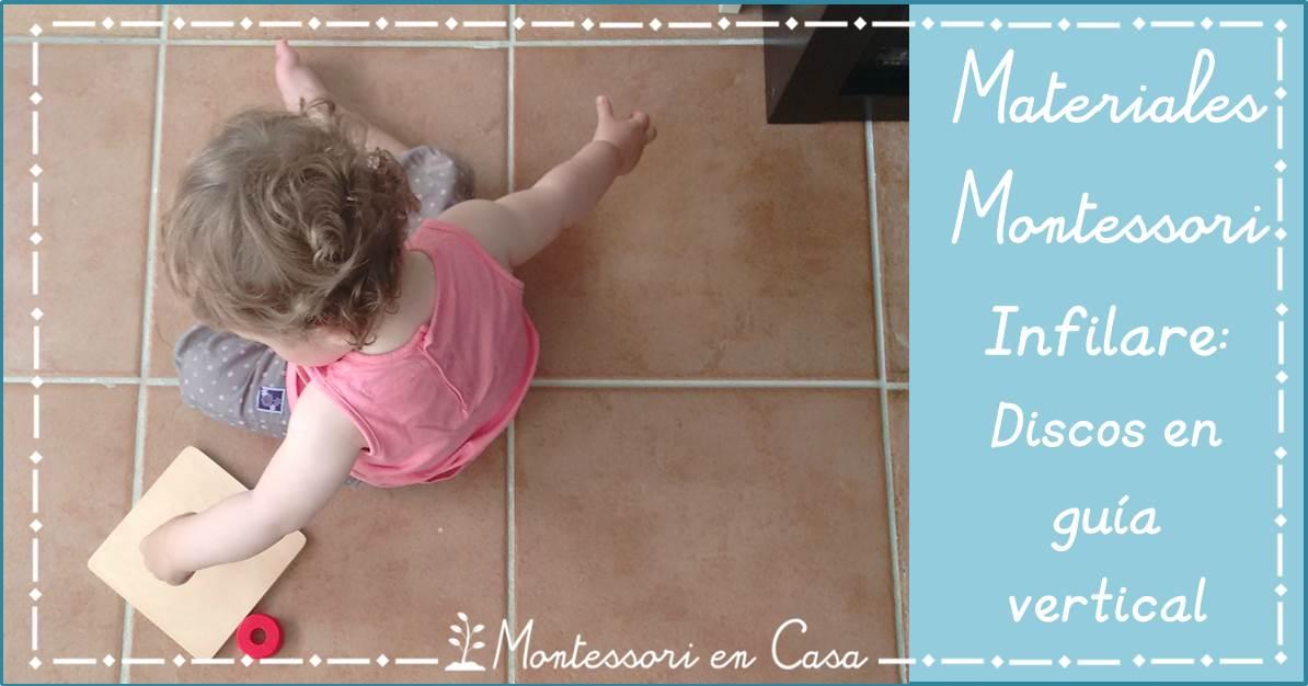 Materiales Montessori infilare.