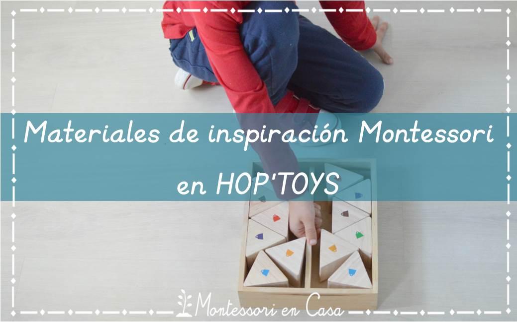 Materiales de inspiración Montessori en HopToys
