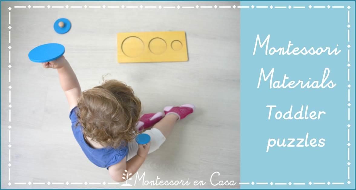 Montessori materials Toddler puzzles
