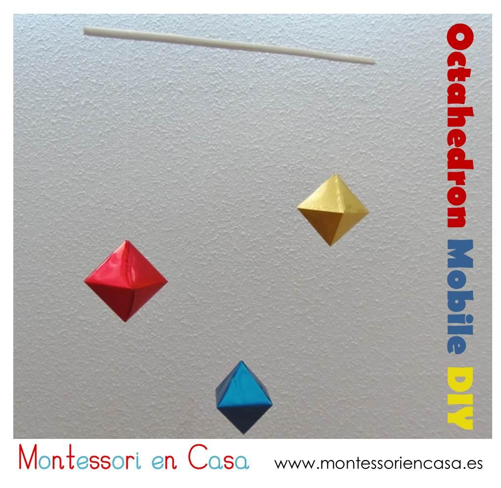 Octahedron Mobile DIY - Montessori en Casa
