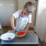 Probando: Delantal infantil de MIMIAbyMIA – Testing: Child apron MIMIAbyMIA