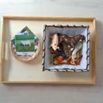 "Imprimible: Tarjetas de 3 partes ""Animales de la granja"" – Printable: ""Farm animals"" 3-part cards"