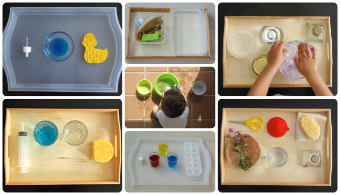 7 Actividades Montessori con agua - 7 Montessori activities with water