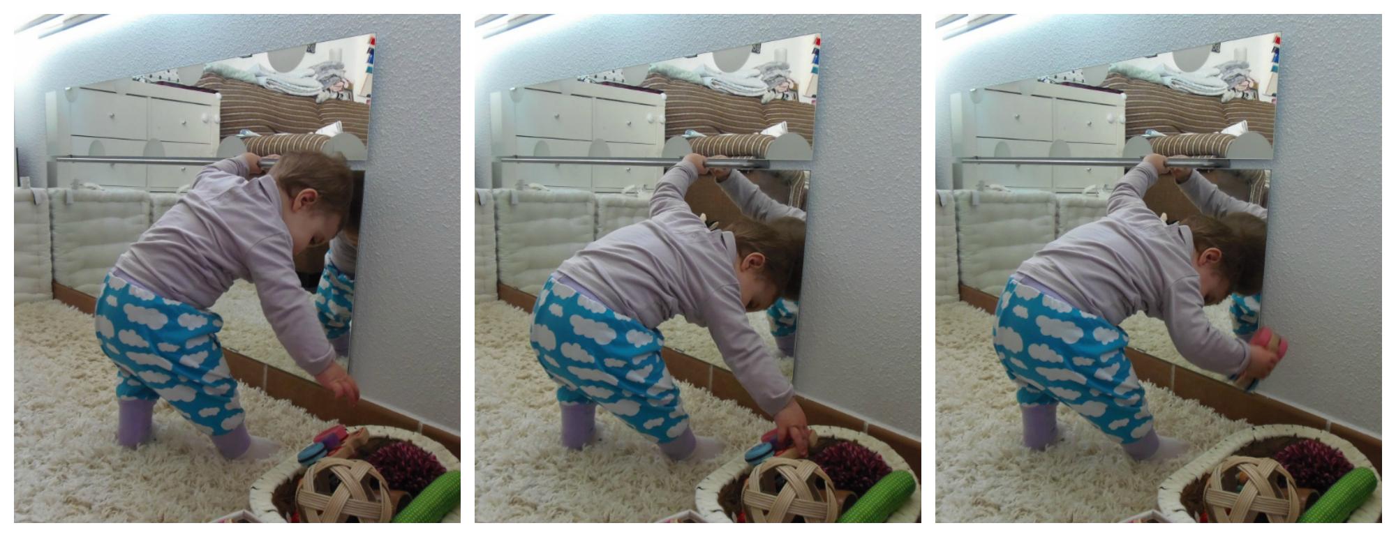 Novedades en nuestro ambiente preparado barra y espejo for Espejo montessori