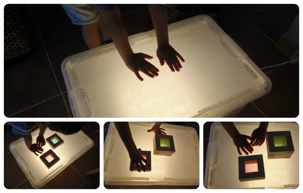 nuestra caja de luz diy our diy light box montessori en casa. Black Bedroom Furniture Sets. Home Design Ideas