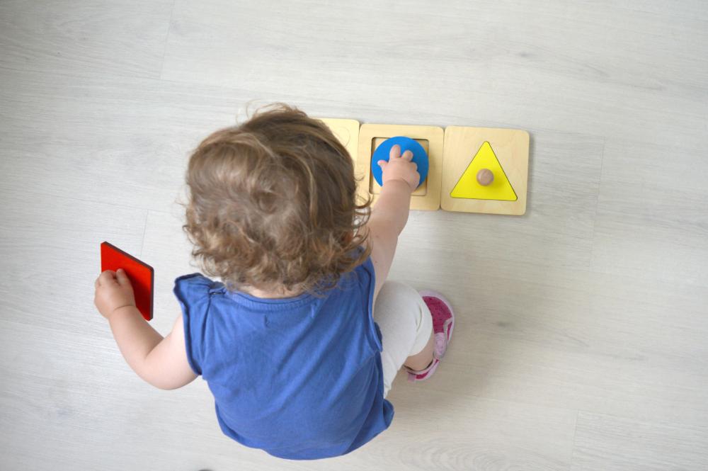 Puzzles botón - montessori en casa.