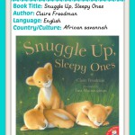 Read Around the World Summer Series: Snuggle Up Sleepy Ones