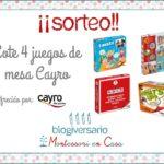 Sorteo lote de 4 juegos de mesa Cayro (4º blogiversario Montessori en Casa)
