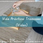 Vida Práctica:Trasvases (VÍDEO) – Practical Life: Pouring (VIDEO)
