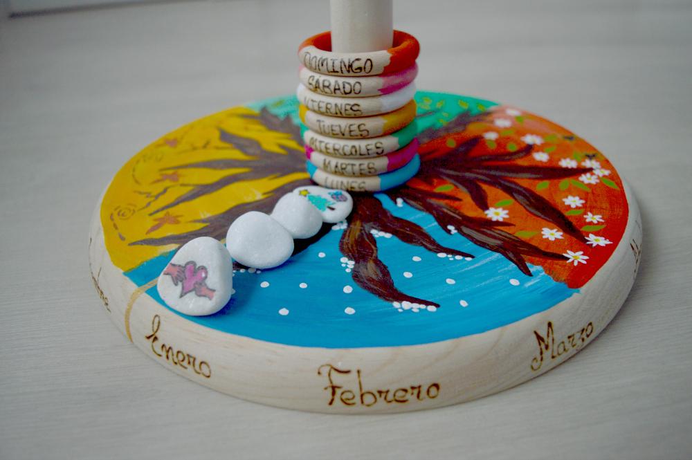 Calendario Montessori.Calendario Anual Artesanal Pequefelicidad Sorteo Montessori En Casa