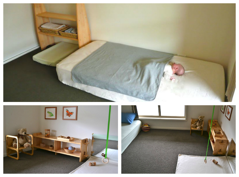 22 ideas montessori de habitaciones para beb s for Cuarto montessori