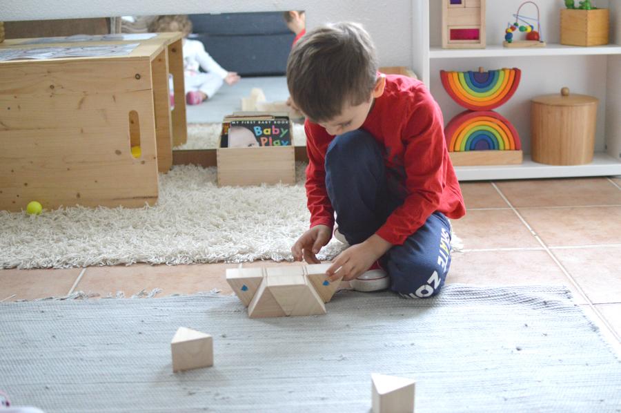 prismas peso - Montessori en casa 2